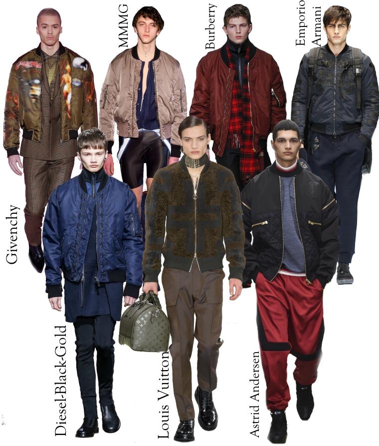 Ez a gyűjteménye népszerűsítette ezt a stílust. Az új szezonban férfi divat  ősz tél 2016 2017 a bombázó dzseki tetszik sok variáció a gyűjtemény a  tervezők. a19fa1b419